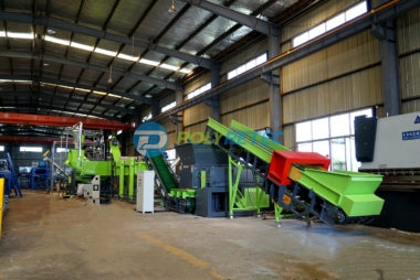 USA client purchased our  500kgh shredding washing drying line for PE containers ,PE buckets ,pe bottles etc .